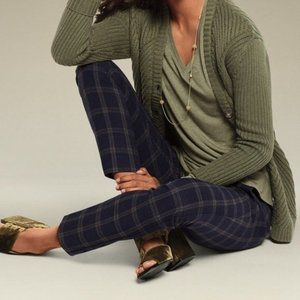 CAbi 3572 Connery Navy Gray Plaid Trousers